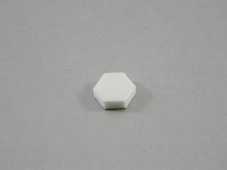 Exceptional HEXAGON CABINET BUMPERS SHEET OF 108 WHITE