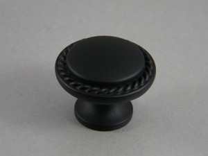 Amerock Flat Black Rope Knob Allison Bp53001 Fb