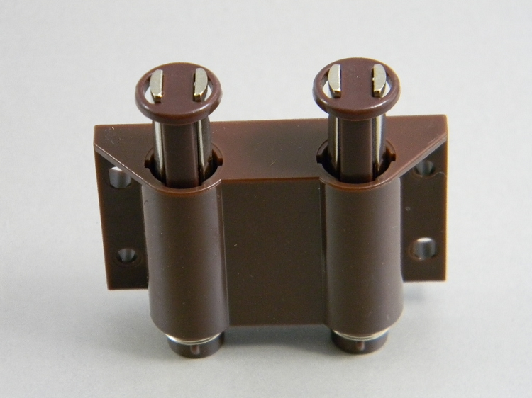 Double Magnetic Touch Catch Brown
