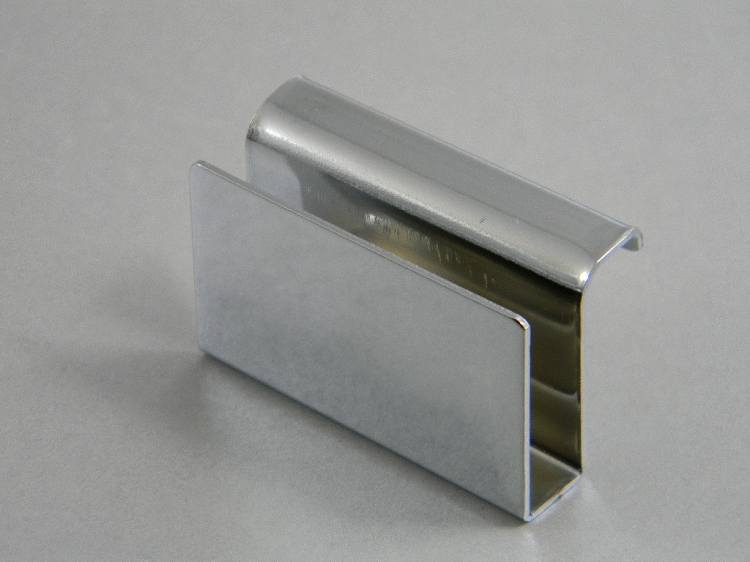 Glass Door Touch Strikes With Finger Pulls Chrome