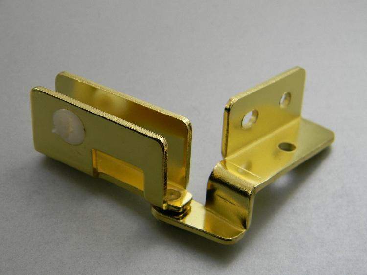 Glass Door Overlay Hinges 180 176 Brass