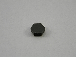 HEXAGON CABINET BUMPERS SHEET OF 108 BLACK