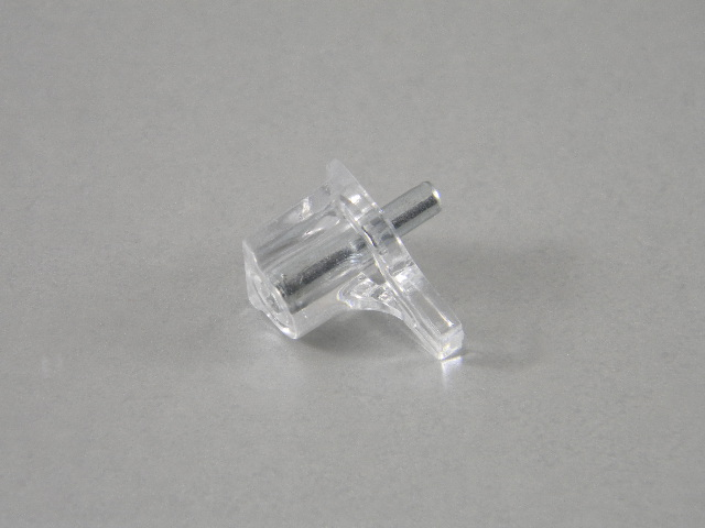 20 Clear Shelf Supports Nickel Pin 3mm 1 8 Quot
