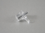 (20) CLEAR  SHELF SUPPORTS - NICKEL PIN - 3MM (1/8