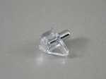 (20) CLEAR  SHELF SUPPORTS - NICKEL PIN - 5MM