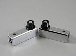 GLASS DOOR INSET HINGES 110° CHROME