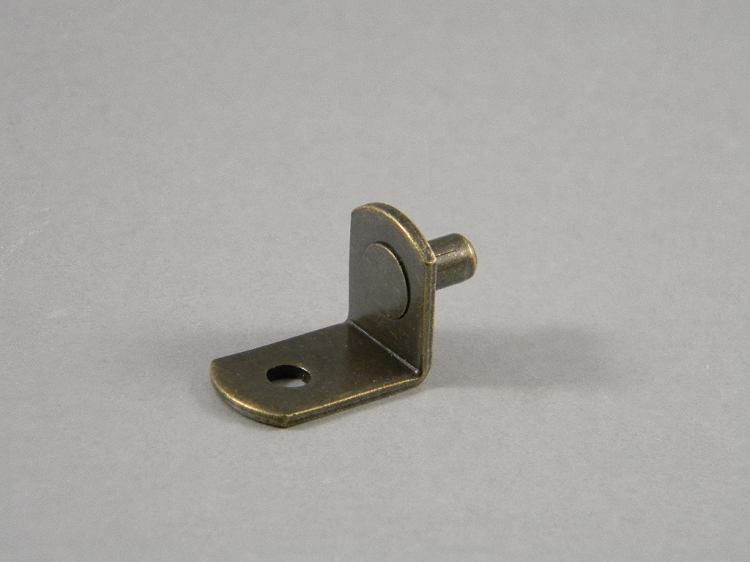 20 L Shaped Shelf Supports Antique Brass 5mm