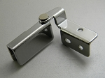 GLASS DOOR OVERLAY HINGES 180° CHROME