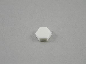 HEXAGON CABINET BUMPERS SHEET OF 108 WHITE