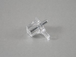 "(20) CLEAR  SHELF SUPPORTS - NICKEL PIN - 3MM (1/8"")"