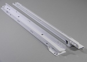 KV 1805 WHITE EPOXY DRAWER SLIDES 14""