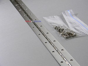Continuous Piano Hinge 36 X 1.5 Nickel (With Screws)